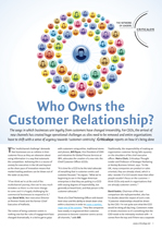 Who Owns the Customer Relationship?