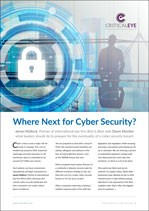 Where Next for Cyber Security?