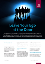 Leave Your Ego at the Door - Paul Matthews