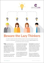 Beware the Lazy Thinkers