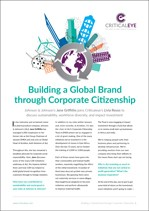 Building a Global Brand through Corporate Citizenship