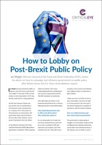 How to Lobby on Post-Brexit Public Policy