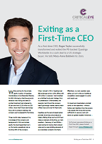 Exiting as a First-Time CEO