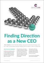 Finding Direction as a New CEO