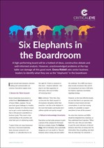 Six Elephants in the Boardroom