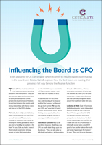 Influencing the Board as CFO