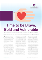 Time to Be Brave, Bold and Vulnerable