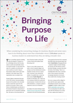 Bringing Purpose to Life