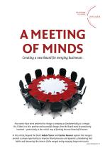 A Meeting of Minds - Creating a new board for merging businesses