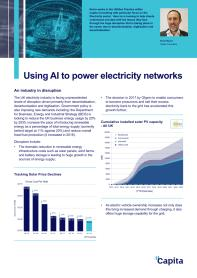 Using AI to Power Electricity Networks