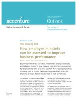 The Missing Link: How Employee Mindsets Can be Assessed to Improve Business