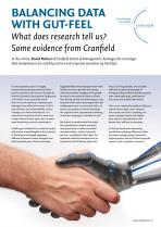 Balancing Data With Gut-Feel - What does research tell us? Some evidence from Cranfield