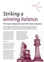 Striking a winning balance: The board composition of AIM-listed companies