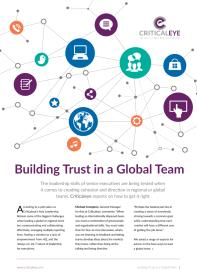 Building Trust in a Global Team