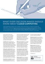 What Every Decision Maker Should Know About Cloud Computing