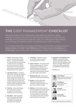 The Cost Management Checklist