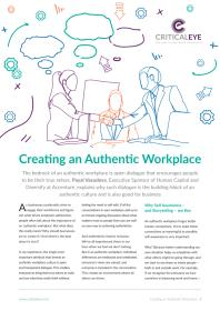 Creating an Authentic Workplace