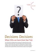 Decisions Decisions - What CEOs can learn from Star Trek