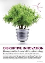 Disruptive Innovation - New Opportunities in Sustainability and Technology