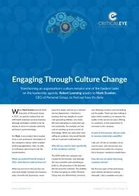 Engaging Through Culture Change