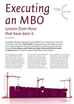 Executing an MBO - Lessons from those that have done it