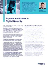 Experience Matters in Digital Security