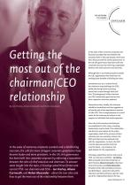 Getting the Most out of the Chairman/CEO Relationship