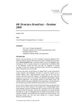 HR Directors Breakfast – October 2009