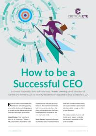 How to be a Successful CEO