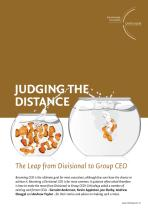 Judging the Distance - The Leap from Divisional to Group CEO