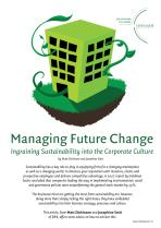 Managing Future Change - Ingraining Sustainability into the Corporate Culture