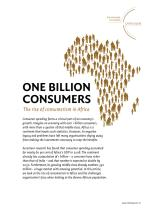 One Billion Consumers - The rise of consumerism in Africa