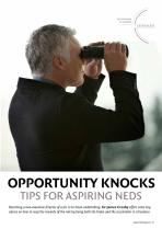 Opportunity Knocks - Tips for Aspiring NEDs