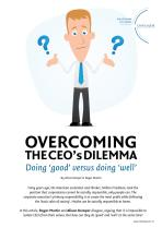 Overcoming the CEO's Dilemma: doing 'good' versus doing 'well'