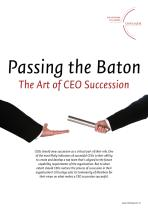 Passing the Baton: The Art of CEO Succession