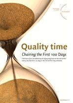 Quality Time - Chairing the First 100 Days