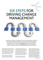 Six Steps for Driving Change Management