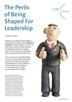 The Perils of Being Shaped for Leadership