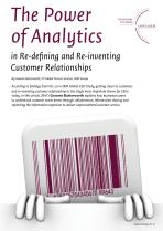 The Power of Analytics in Re-defining and Re-inventing Customer Relationships