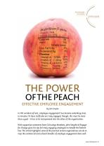 The Power of the Peach: effective employee engagement