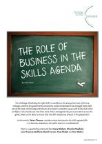 The Role of Business in the Skills Agenda