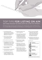 Top Tips for Listing on AIM (or things you wish you knew when you listed the company)