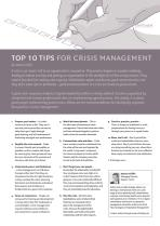 Top 10 tips for crisis management