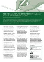 Today's marketer, tomorrow's growth leader? Top tips for marketing leaders