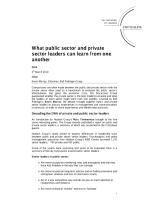 What public sector and private sector leaders can learn from each other