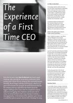 The Experience of a First Time CEO