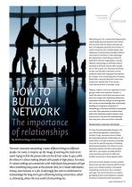 How to build a network: The importance of relationships