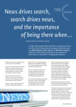 News drives search, search drives news, and the importance of being there when...